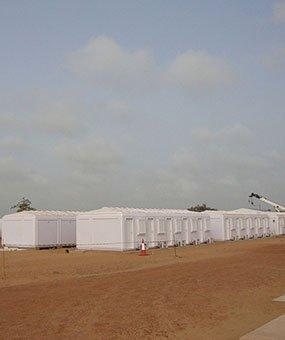 Installazione di cabine di gestione modulari completate in Senegal