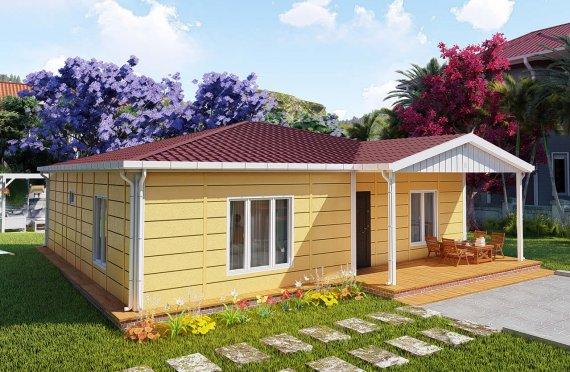 103 m2 Casa prefabbricata a un piano