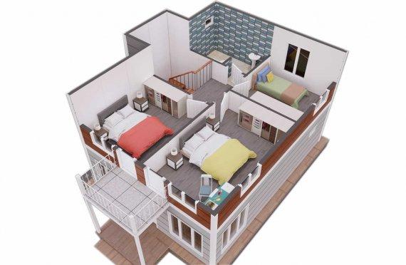 126 m2 Villa prefabbricata