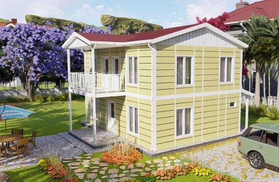 128 m2 Villa prefabbricata