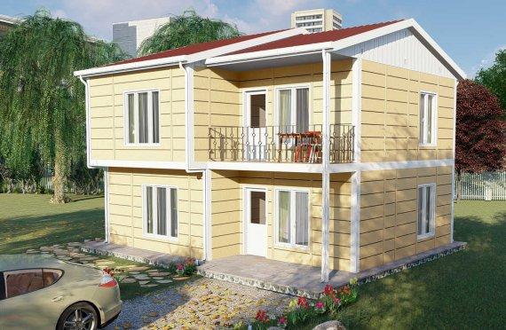 137 m2 Villa prefabbricata