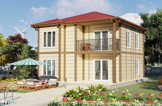 138 m2 Villa prefabbricata