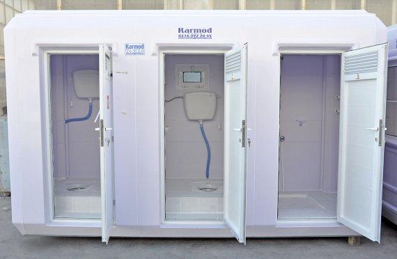 Cabina doccia e WC portatile 150x390