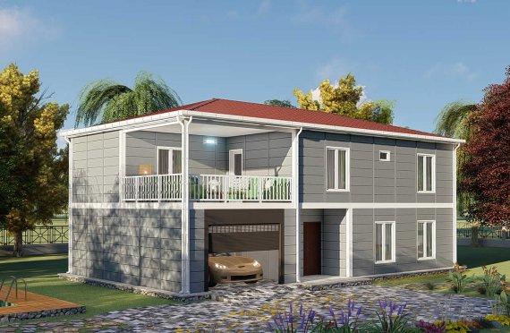 206 m2 Villa prefabbricata