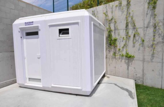 Cabina doccia con WC portatile 270x270