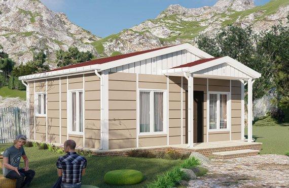45 m2 Casa prefabbricata a un piano