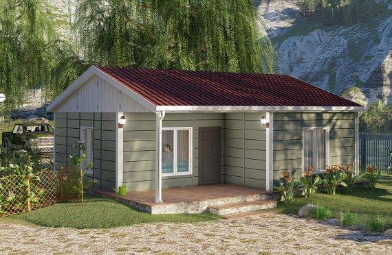 64 m2 Casa prefabbricata a un piano