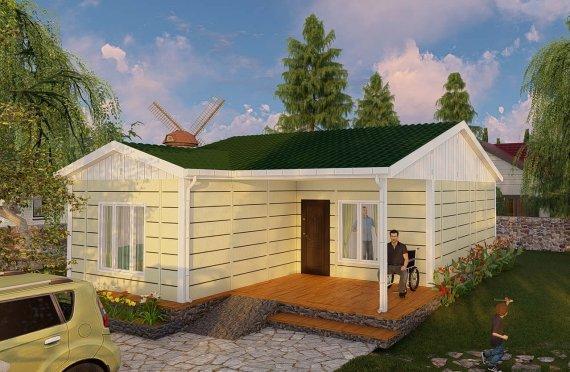 73 m2 Casa prefabbricata a un piano