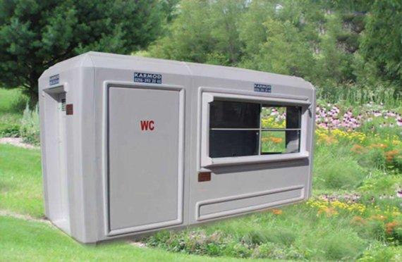 Cabina di sicurezza per WC portatile 150x390