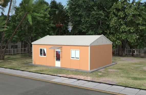 Edificio per uffici modulare di 58 m²