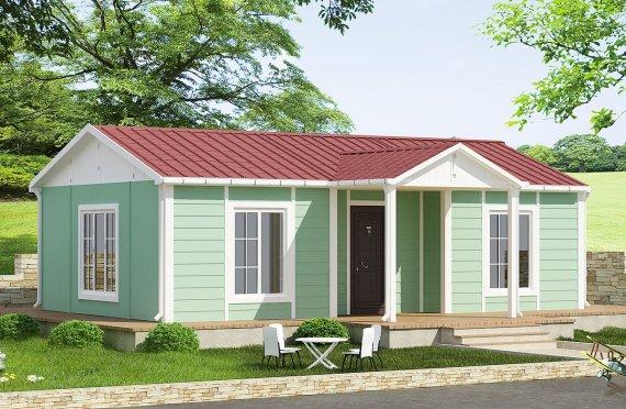 Casa prefabbricata di 51 m²