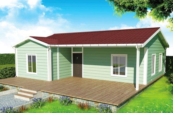 casa prefabbricata 86 m²