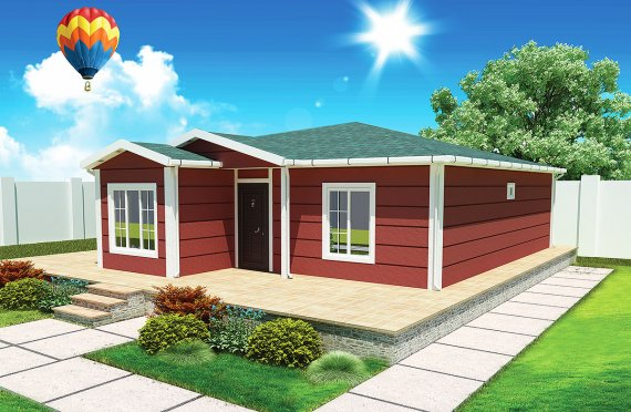 Casa prefabbricata 96 m²