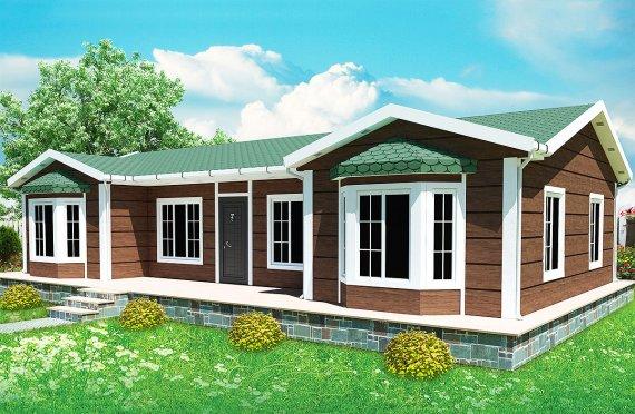 Casa prefabbricata 97 m²