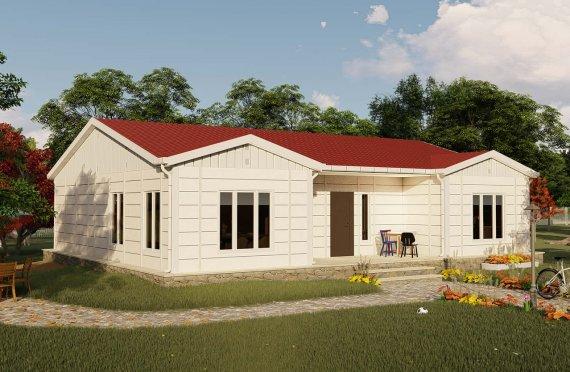 123 m2 Casa prefabbricata a un piano