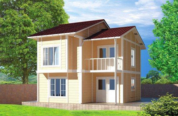 Casa Prefabbricata di 91 m²