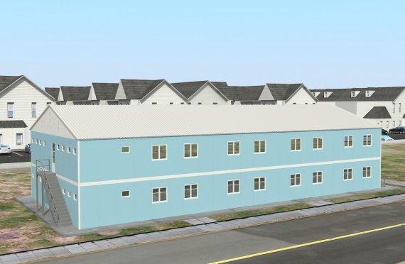 Unità di alloggio modulare 736 m²