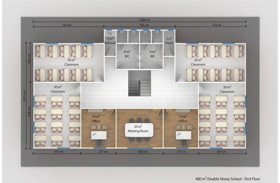 Aula portatile 480 m²