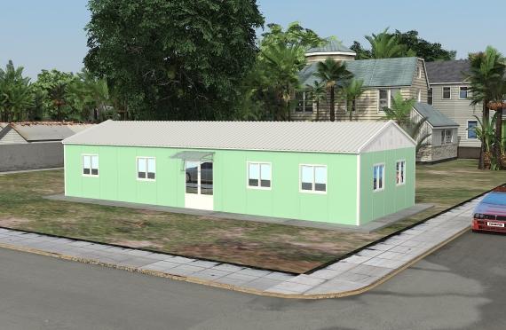 Edificio d' ufficio modulare di 106 m²