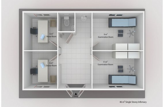 Infermeria modulare 46 m²