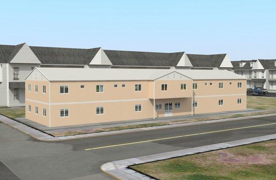Infrastruttura  sociale modulare 793 m²