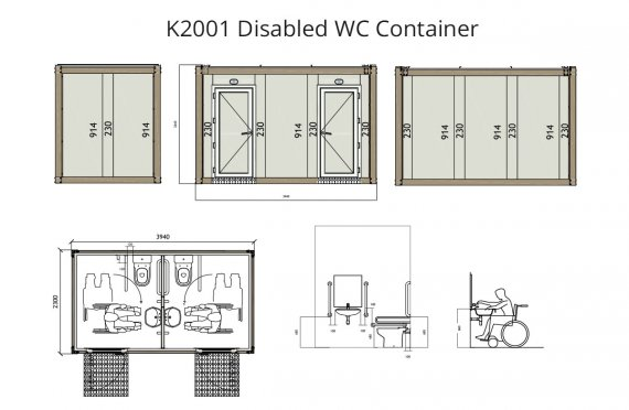 Contenitore dal WC disabile K 2001