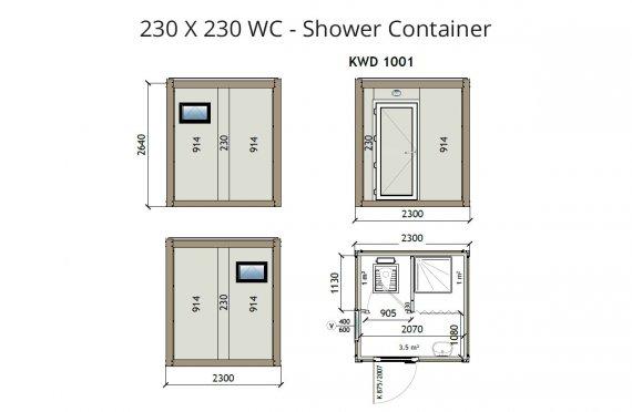 KW2 230X230 Wc - doccia-container