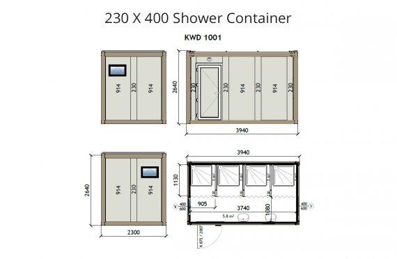 Contenitore doccia KW4 230X400