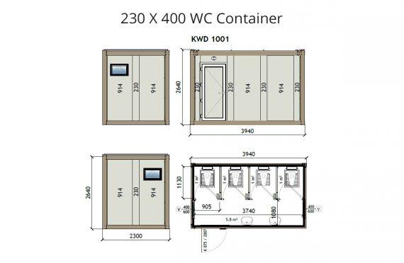 Contenitore WC KW4 230X400
