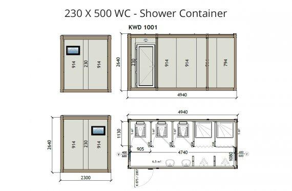 KW6 230X500 Contenitore-WC-doccia