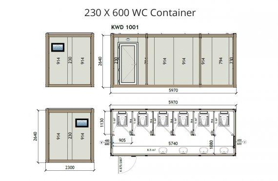 KW6 230X600 Wc Contenitore