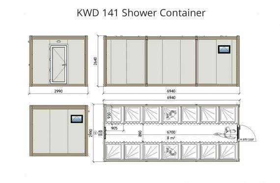 Contenitore doccia KWD 141