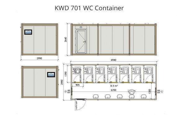 Contenitore WC KWD 701