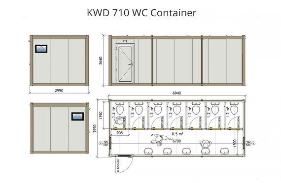 Contenitore KWD 710 di Wc