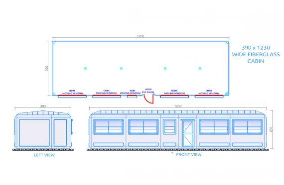 Edificio portatile 390x1230