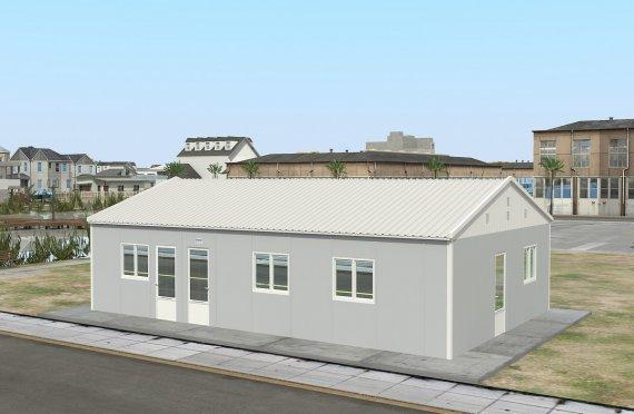 Cucina commerciale prefabbricata di 89 m²