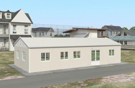 Cucina commerciale prefabbricata di 98 m²