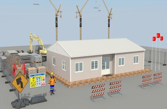 Edificio per uffici modulare di 125 m²