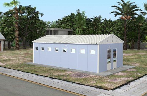 Edificio prefabbricato per servizi igienici e doccia 52 m²