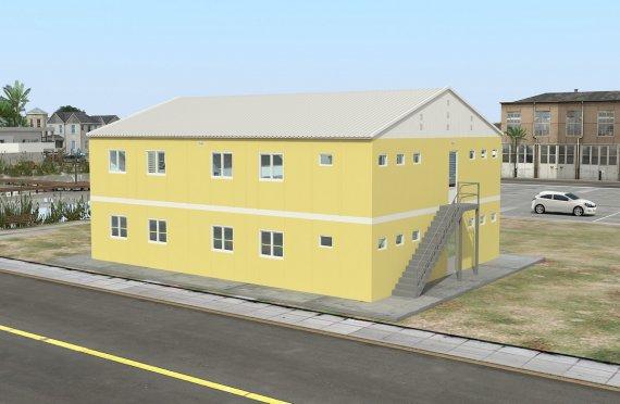 Alloggio modulare 348 m²