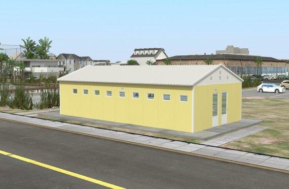 Servizi igienici e doccia prefabbricati 82 m²
