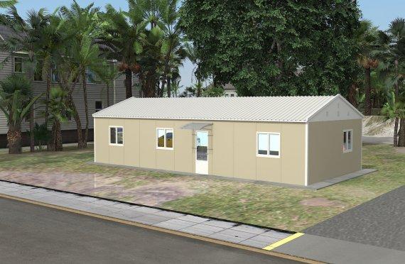 Edificio per uffici modulare di 90 m²