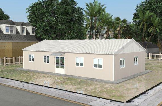 Edificio per uffici modulare di 136 m²