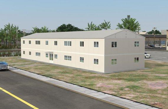 Edificio per ufficio modulare 588 m²