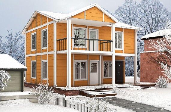 112 m² Casa modulare prefabbricata -