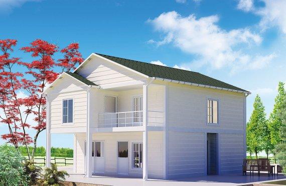 casa prefabbricata 130 m²