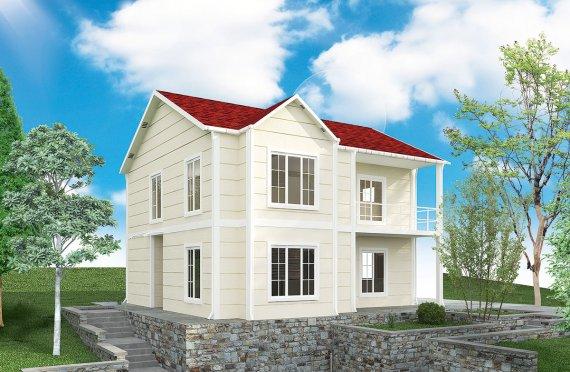 casa prefabbricata  132 m²
