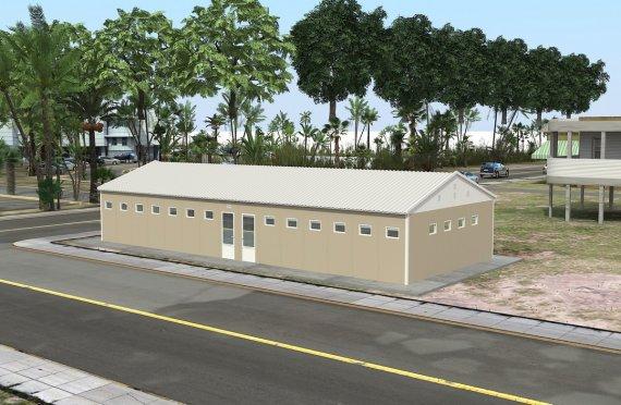 Edificio prefabbricato per servizi igienici e docce 145 m²