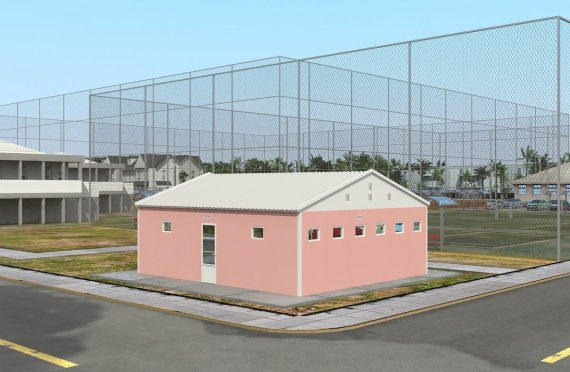 Toilettete e doccia prefabbricata 70 m²
