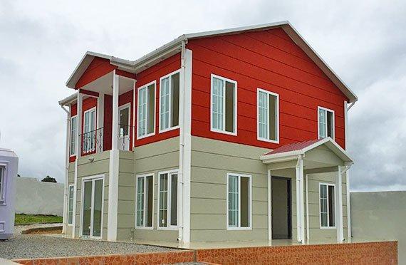 Case prefabbricate di due piani
